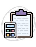 clipboard and calculator icon
