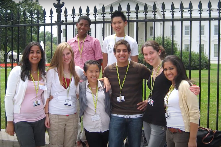 group outside the White House